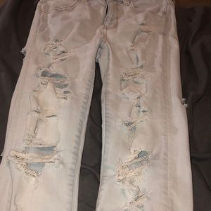 Ae very distressed jeans